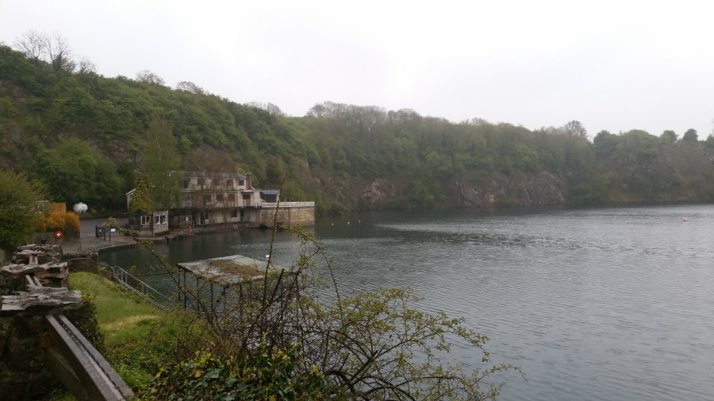 A cold rainy Stoney Cove early morning