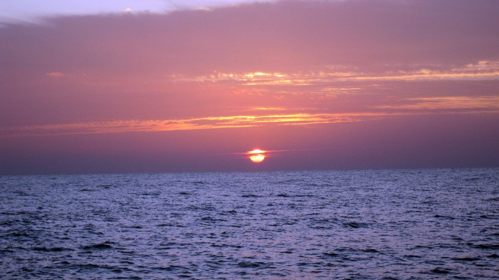 Red Sea sunrise from dive boat