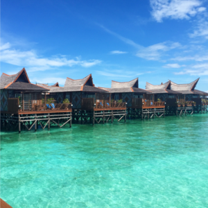 The water bungalows that we stayed in on Mabul Island