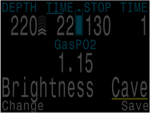 Cave brightness is very dim and thus best suited for dark environments like caves.