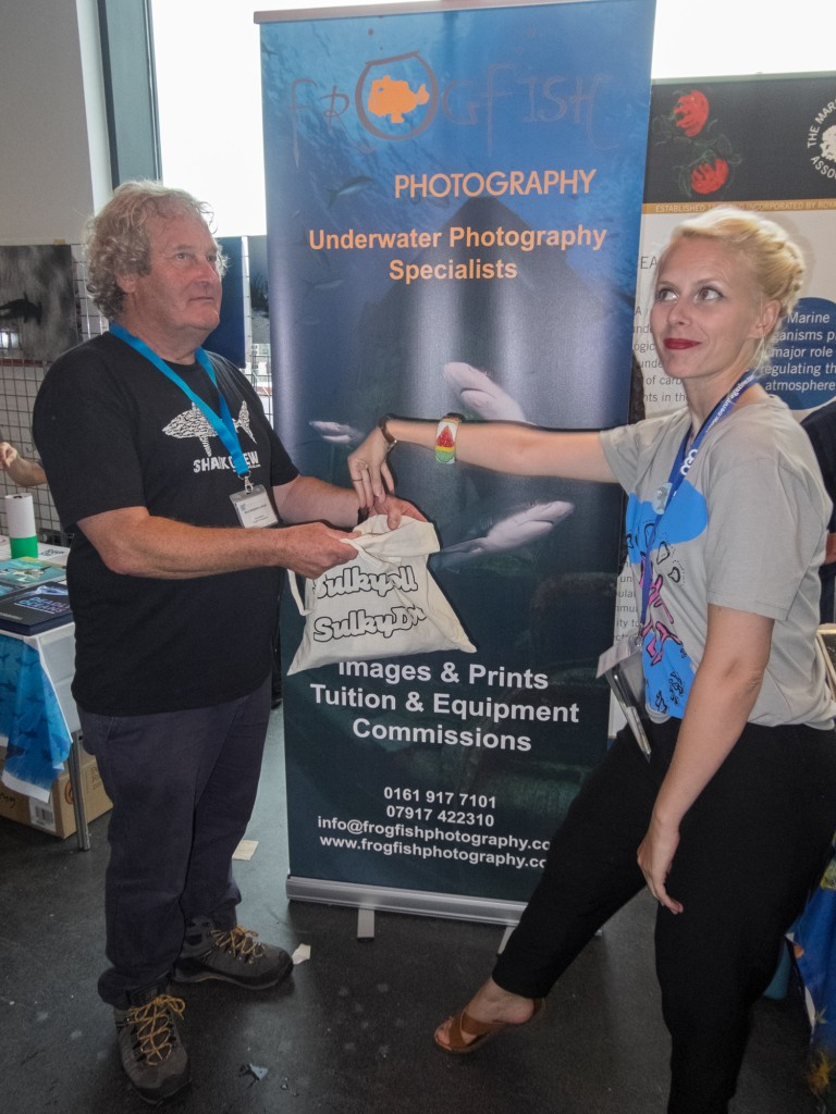Prize draw at Frogfish Photography with organiser Lou Ruddell