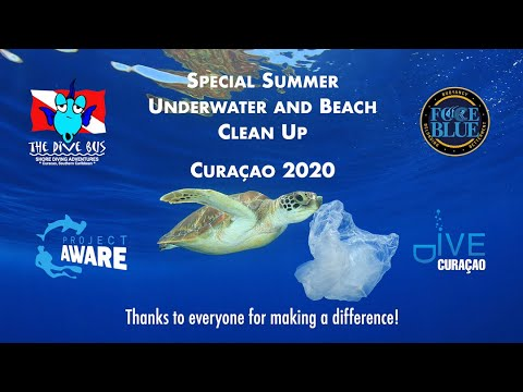 Curaçao hosts special underwater and beach clean-up