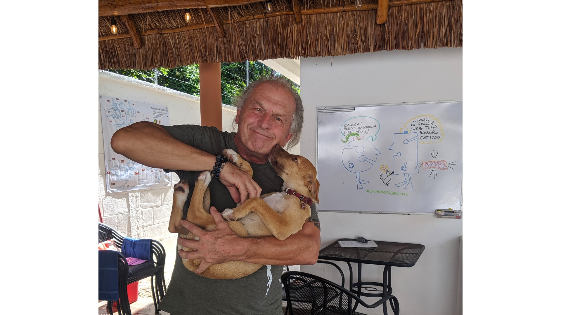 Steve Lewis with dog
