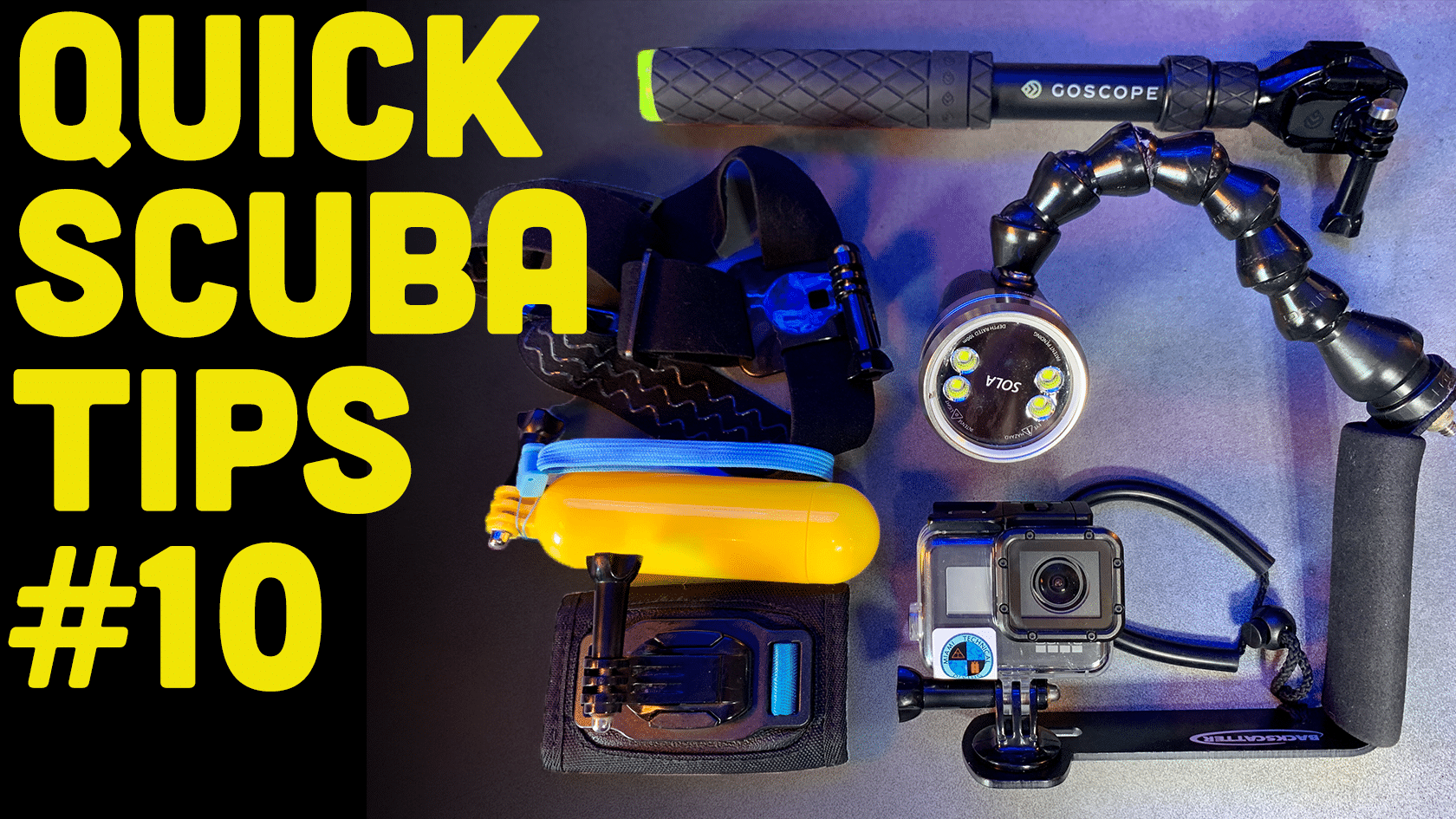 How To Mount A GoPro for Scuba Diving