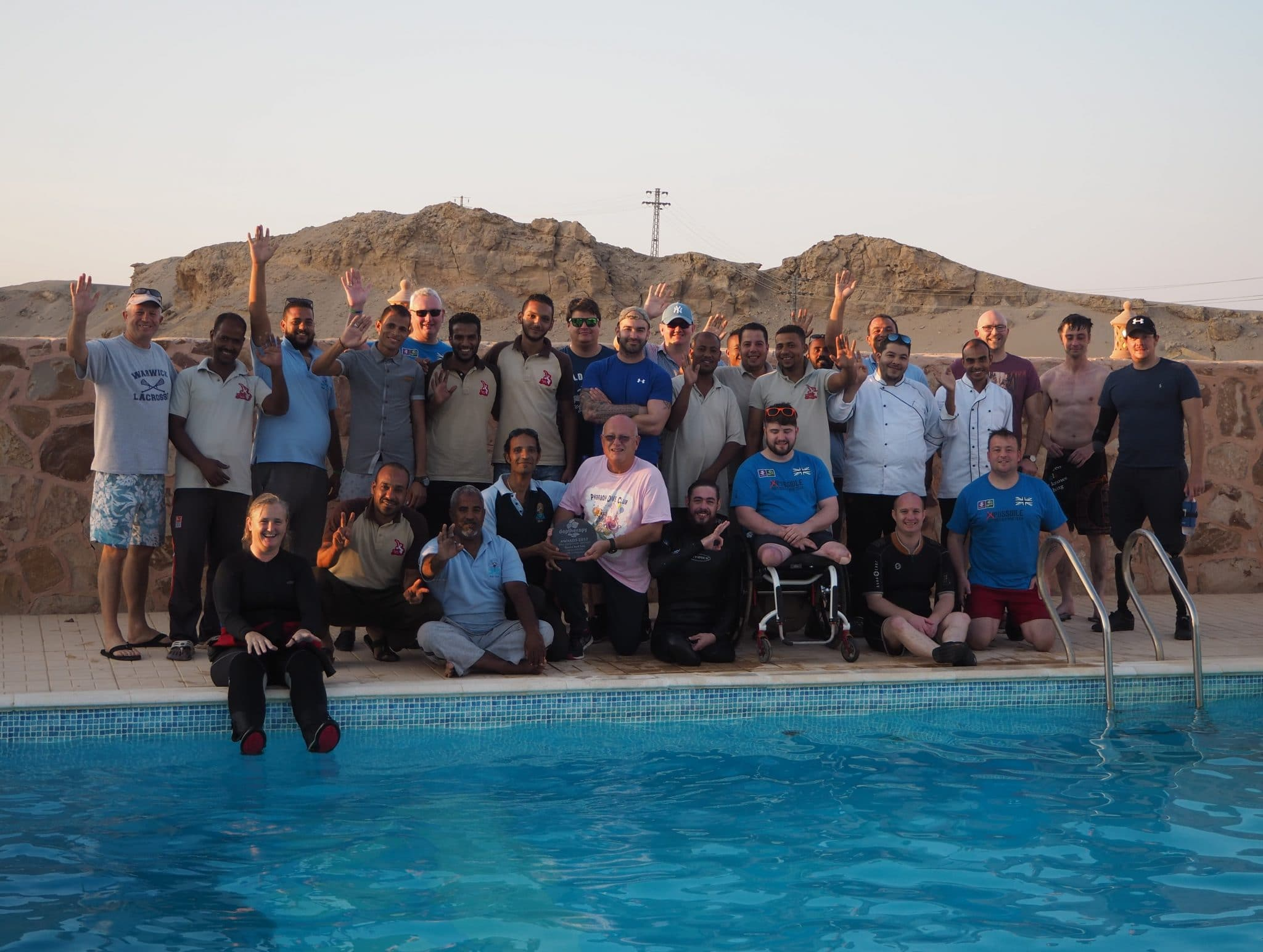 Team Deptherapy at Roots Red Sea, Egypt 1 Credit Deptherapy and Roots Red Sea